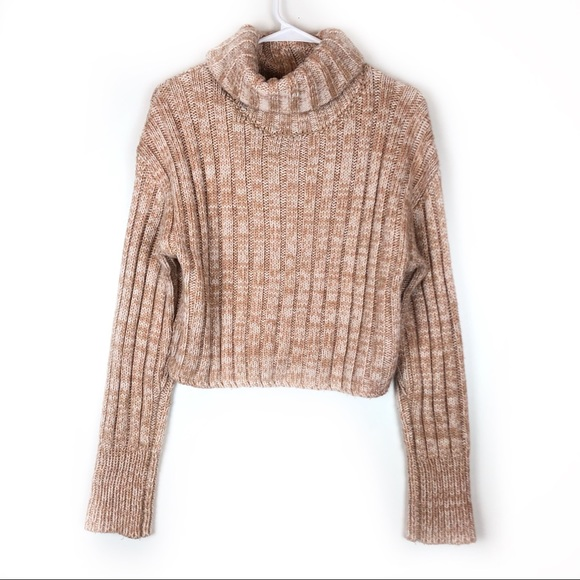 Urban Outfitters Chunky Roll Neck Cropped Sweater.